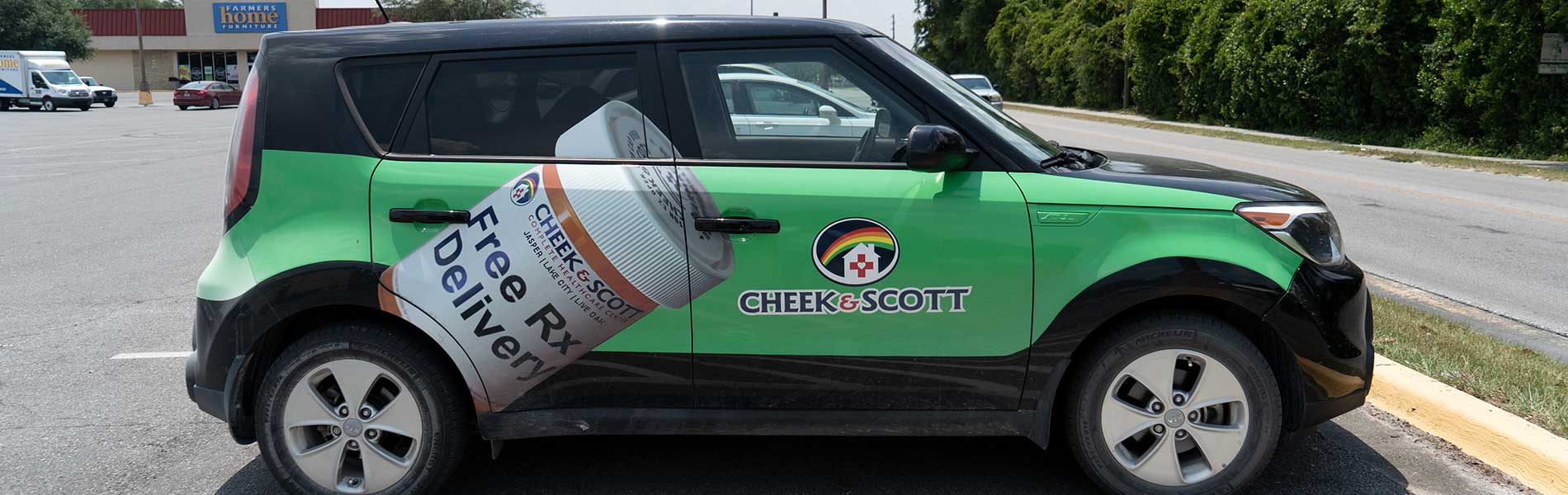 Cheek & Scott delivery car